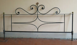 Headboard Wrought Iron Forged By Hand For Double Bed Header 30 Ch