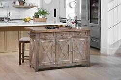 Cocina Kitchen Island With Wood Drop Leaf Top Free Shipping