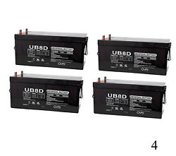 Upg 12v 250ah Sla Replacement Battery For Scada Systems Solar Backup - 4 Pack