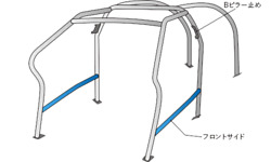 Okuyama Dash Roll Cage Steel 8p For Toyota Lexus Is-f Use20 727-075-0