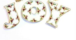 Royal Albert Old Country Roses Set Of 3 Piece Joy Candy Dishes New In The Box