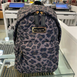 NWT RETAIL $225 Marc Jacobs Quilted Nylon Backpack LEOPARD PRINT $89.99