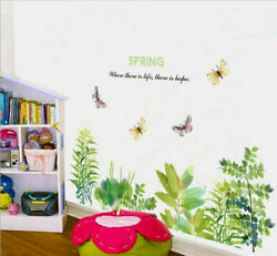 Removable Flowers Plant Butterfly Wall Sticker Art Mural Decal Room Decor DIY EH