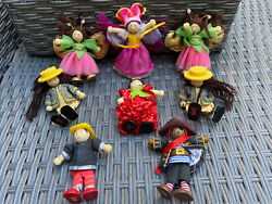 Le Toy Van Bundle Small People Wooden Dolls House Role Play Fairies Pirate X 8
