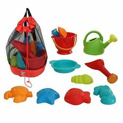 Hape Beach Toy Essential Set Sand Toy Pack Mesh Bag Included E8603 $27.90