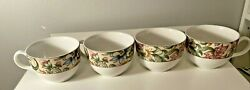 Royal Doulton Jacobean Lot Of 4 Mugs / Cups Everyday Floral
