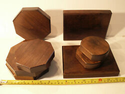 8 Wooden Display Stands For Patchville Bunnies Or Other Collectibles
