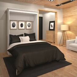 Atlin Designs 64and039and039 Full Wall Bed In White