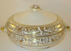 Wedgwood Florentine W4219 Gold Lidded Tureen Lot A Excellent