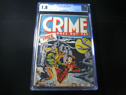 Crime Does Not Pay 33 Cgc 1.8 1944, Lev Gleason
