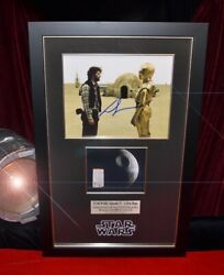 Rare Star Wars Iv Screen-used Prop Death Star Signed George Lucas Coa Frame Dvd