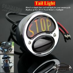 For Bobber Chopper Ford 28-31 Model A Duolamp Tail Brake Stop Light Taillights