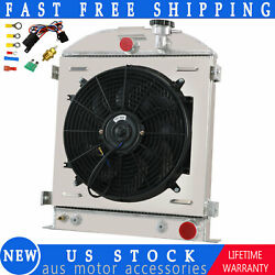 3 Row Radiator Shroud Fan For 1932 Ford Street Rod Chevy Outlets Trans Cooler
