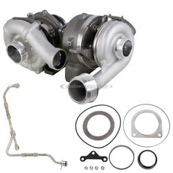 For Ford Super Duty 2008-10 Stigan Turbo W/ Turbocharger Gaskets And Oil Line Tcp