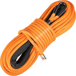 Vevor Winch Rope Synthetic Cable 7/16x100and03918600+ Lbs Atv Recovery Orange