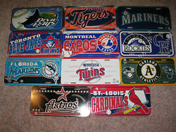 Mlb License Plate Collection Jayscardsaand039stwinsexposdevil Rays+ 5 More