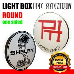 One Sided Light Box Round 800mm Outdoor Custom Shop Sign Illuminated Project