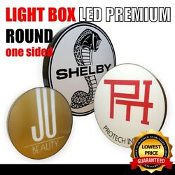 One Sided Light Box Round 150cm Outdoor Sign Design Display Custom Shop Sign