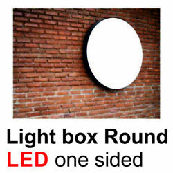 One Sided Light Box Round 700mm Outdoor Sign Design Custom Shop Sign Project