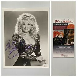 Country Great Dolly Parton 1989 Signed Autograph 8x10 Bandw Photo - Jsa - Free Sandh