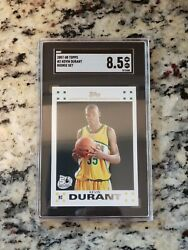 2007 Topps Rookie Card 2 Kevin Durant Supersonics Rc 8.5 N Mint