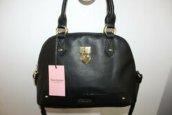 NWT JUICY COUTURE UNDER LOCK AND KEY DOME SATCHEL CROSSBODY BAG BLACK $49.99
