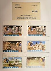 1973 Liberia Apollo 17 Stamp Set Of Six 6 - Littleton Stamp And Coin Co. 82-ad