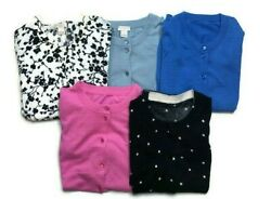 J.crew Womens The Clare Cardigan 3/4 Sleeve Cotton Lot Of 5 Size Small Euc