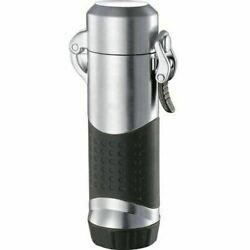 Summit Chrome Satin Wind-resistant Jet Flame Lighter - Free Shipping