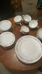 Teahouse Rose Dansico Fine China - 49 Pieces Discontinued Pattern