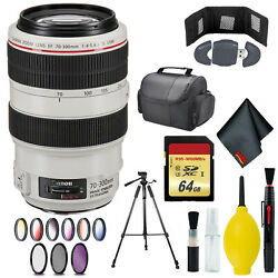 Canon Ef 70-300mm F/4-5.6l Is Usm Lens Memory Card Wallet And Reader 128gb Case 67