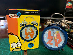 The Simpsons Twinbell Alarm Clock By Wesco 2009 With Homer