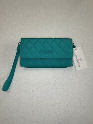 NEW Vera Bradley Smartphone Wristlet for iPhone 6 Peacock Blue Flaw in Pics $9.99