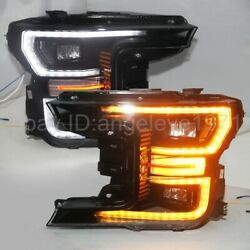 2015-2017 Year Full Led Headlights For Raptor Ford F-150 Led Strip Lamps Yz