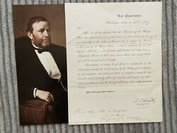 Ulysses S. Grant Signed Document As Secretary Of War, Civil Rights, 1867