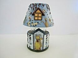 Yankee Candle Kathy Hatch Garden Cat Collection Holder And Shade