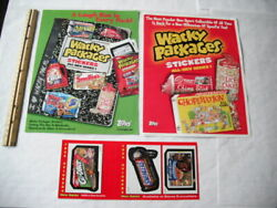 2004 Topps Wacky Packages Series 1 Advertising Dealer Sell Sheets And Stickers