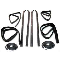 Sweep Belt And Glass Run Window Channel And Door Seal 80-93 Dodge D Series Pair