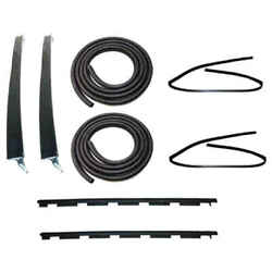 Sweep Belt, Glass Run Window Channel And Door Seal Kit For 88-00 Chevy Ck Pickup