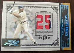 2005 Playoff Prime Cuts Andruw Jones Jersey-prime Patch /10