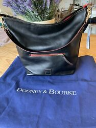 Dooney and Bourke Large Camden Florentine Leather hobo in black $498. New W tags $245.00