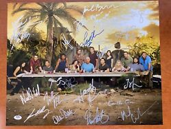 Lost Cast Signed 16x20 Photo - 24 Autographs - Only 1 On Ebay - Full Letter Psa
