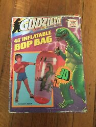 1992 Godzilla King Of Monsters Inflatable Bop Bag 48 Tall 3d Imperial Toys Nib