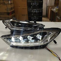 White Led Devil Eeyes Headlights For Elantra Avante Front Lamps 2016-2020 Year