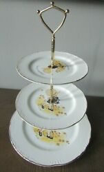 Vintage 1973 Holly Hobbie 3-tier Tidbit Tray Serving Dish 14 Made In Japan
