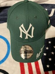 Polo Forest Green Yankees Fitted Baseball Cap Hat Size Large L