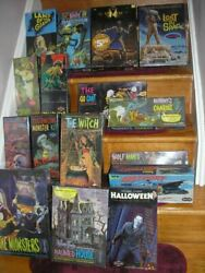 Lot 16 Polar Lights Model Kit Most Monster 14 Sealed Witch Halloween Myers Addam
