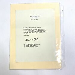 1976 Thank You Note President Gerald Ford Political Memorabilia Signed