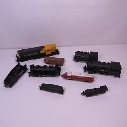 Mixed Train Lot Engines And Other Cars Bachmann Arnold Rivarossi For Parts