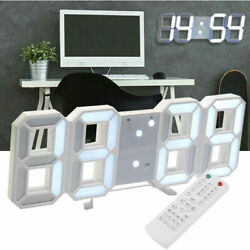 New Remote Control Large LED Digital Wall Clock w Countdown Timer Temperature